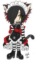 Kielah in a maid outfit. by DeadlyNightShade999