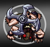 Skullgirls Painwheel Chibi by Melle-d