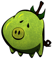 Pear Pig by InverseReality-2