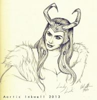 Lady Loki - Sketch by Serrifth