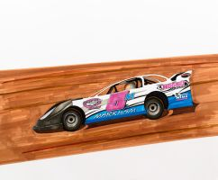 Late Model Dirt Track Car by Anths95