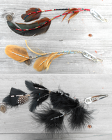 Feather Hair clips by JourneytoRevenge
