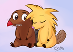 Daggy and Norbie by chibitracydoodles
