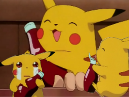 Pikachu Loves his Ketchup by ilikadachocolate
