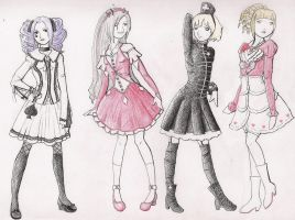 Lolita Designs-Aces by amurderofcrowws
