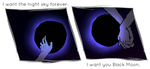 Moon, I don't deserve you tonight. by gee-ky
