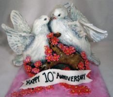 Birds of a Feather Cake by TiffsWickedCakes