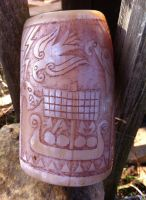 Viking age drinking horn cup front by Dewfooter