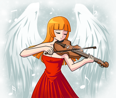 Violin.. Angel plays~ by Sweet-Narry