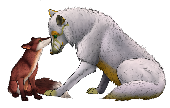 The fox and the.... wolf? WIP by BreakableHorseRider