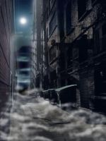 Alley of the Shadow of Night by JLR-Shadowlover