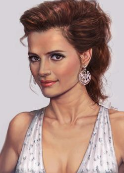 Stana Katic - Lady Painting by tman2009