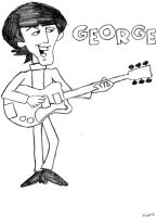 While his guitar gently weeps by Beatlesluver56