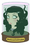 Medusa in a headjar by Medusa-Dollmaker