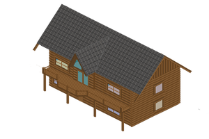 Pixel Log Cabin by donkirk