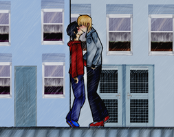 i'm gonna kiss you in the rain by xCherrySpirit