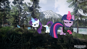 MLP fim: Twilight and Rarity go Armored Kill by SwissLeo