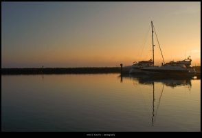 Sunset at Poole Quay 1 by mikokusumo