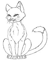 Free cat lineart by wendy434