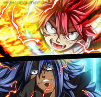 Natsu and Acnologia - Fairy tail 544 by k9k992