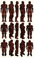 Mass Effect 2, Male Shepard Inferno Armour - Ref by Troodon80