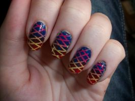 Double Gradient Nails by QueenAliceOfAwesome