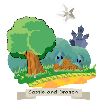 Paper Mario TTYD - Shirt desgin: Castle and Dragon by BenstarDeviant