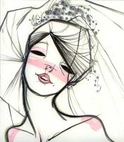 Bride - illustration by toblindfoldher