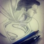 New Superman: Man Of Steel Drawing by MoonIllustrator