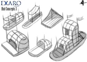 Exaro Town Concept - Huts 3 by AaronQuinn