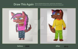 Danni Wolf -  Draw this Again Challenge Entry by AnthroBrownWolf