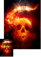 Flaming Skull Book Cover - Terminat Auctor Opus by Viergacht