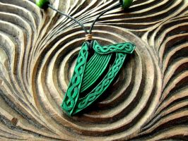 CELTIC HARP PENDANT by MassoGeppetto