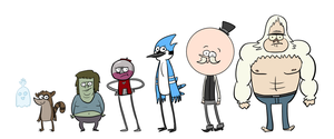 Regular Show Cast by Miniyuna