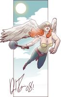 Hawkgirl for a hot girl, again by dio-03