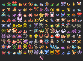 Pokedex 8bits by oni1ink