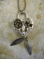 Steampunk Heart and Charms by bcainspirations