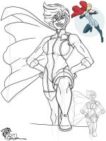 DSC Lovember 7: Power Girl by eiledon