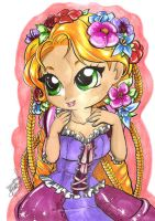 Rapunzel practice with markers by selene-nightmare69