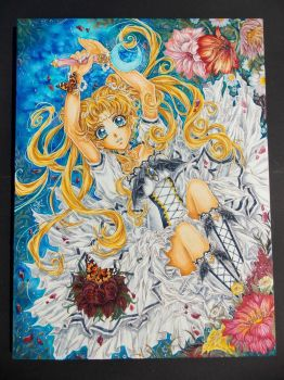 Sailor Moon - Moonlit Flower Garden by ArtTreasure