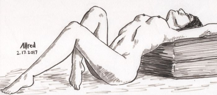 Reclined Woman by dinobot100