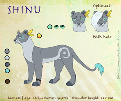 Shinu's Ref Sheet by ShinuLioness
