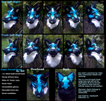 Copic fursuit head: Turnaround by lambomill