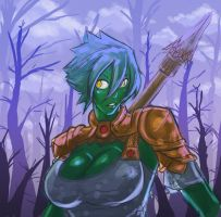 Orc Spear Girl by WickedStar