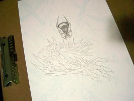 Commish 85 Spawn WIP 03 by RobDuenas