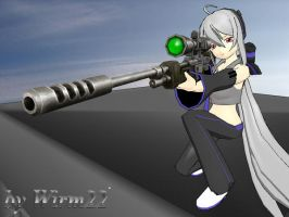 Haku Yowane - The best Sniper by Wirm22