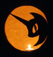 2011 Nightmare Moon Pumpkin by Framwinkle