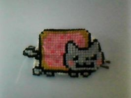 Nyan Cat Stitched Hairclip by Hilairlieous
