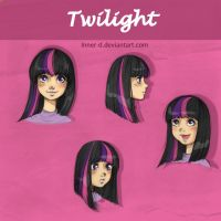 Twilight sparkle sketches by Inner-D