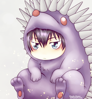 Hibari Kyoya:.4 - Hedgehog by Purple-Kumo